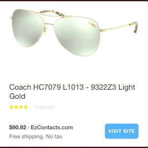 Coach sunglasses!!! Just in time for Summer Sun!